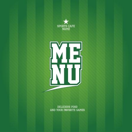 soccer fan: Sports Bar Menu card design template   Illustration