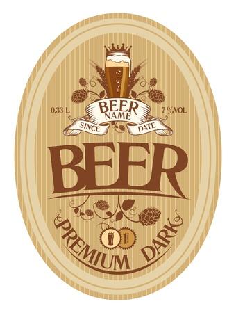 Modèle de conception d'étiquettes de bière Vecteurs