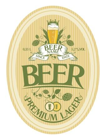 Beer label design template Stock Vector - 16680736