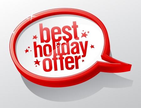 kerst markt: De beste vakantie aanbod glanzend tekstballon