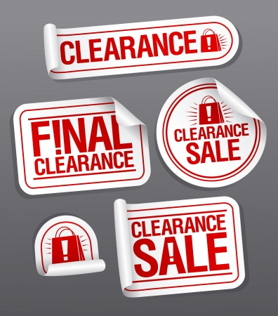 Final clearance sale stickers  Stock Vector - 16680732