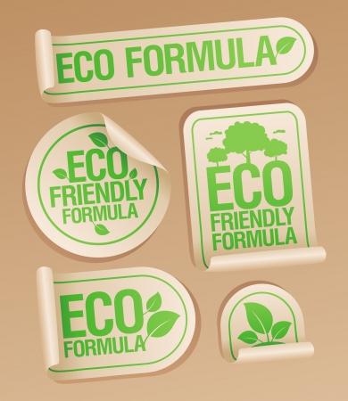 non: Eco Friendly Formula stickers set
