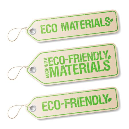 Made With Eco-friendly Materials labels collection  Stock Vector - 16680741