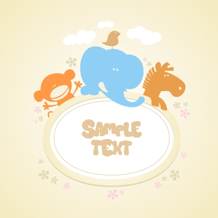 Template for baby Vector