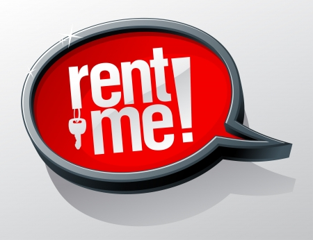 employ: Rent me shiny glass speech bubble