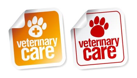 Veterinary care stickers set Stock Vector - 16680742