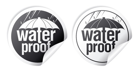 Waterproof stickers set  Vector