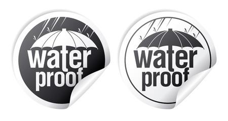 Waterproof stickers set Stock Vector - 16680727