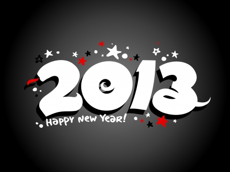 2013 year design template with snake. Vector