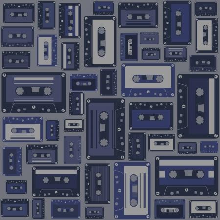 Cassette tape seamless pattern. Stock Vector - 16917164