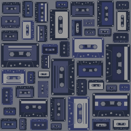Cassette tape seamless pattern. Stock Vector - 16917164