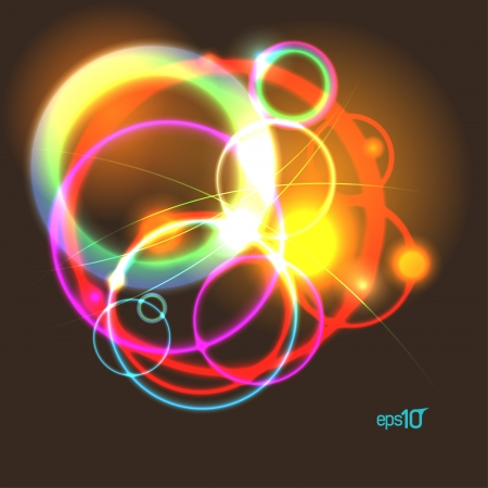 Abstract neon design template  Stock Vector - 16917169