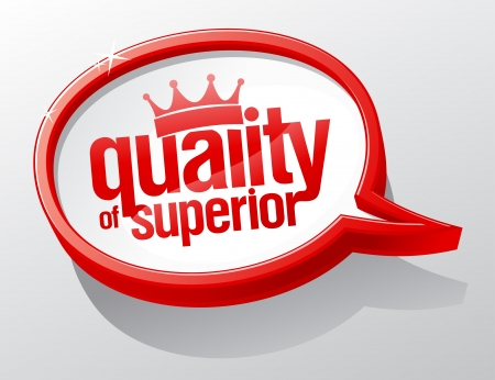 Quality of superior shiny glass speech bubble. Vector