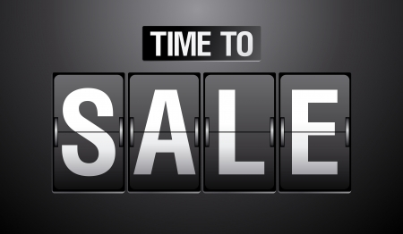Time to Sale analogen Flip Uhr.
