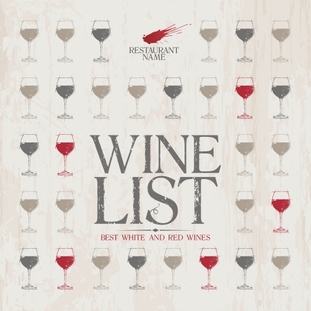Wine List Menu Card Design template. Vector