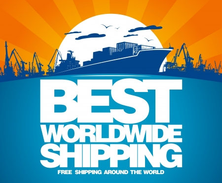 Best worldwide shipping design template. Stock Vector - 17198763
