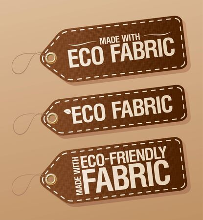 Made With Eco-friendly Fabric labels collection. Vector