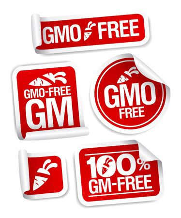 GMO free stickers set for healthy food. Stock Vector - 17198785