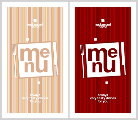 Restaurant Menu Card Design template. Long format. Stock Vector - 17198771