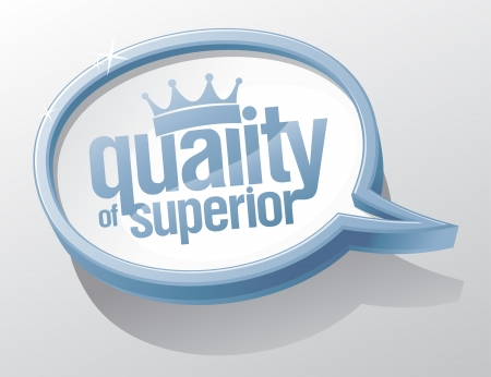 Quality of superior shiny glass speech bubble. Stock Vector - 17198752