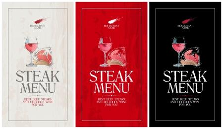 Steak Menu Card Design template  Stock Vector - 17198788