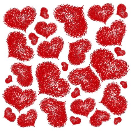seamless background with coloured hearts Stock Vector - 17198791