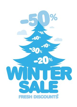 Winter sale design template  Stock Vector - 17198749