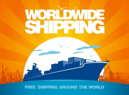 Worldwide shipping design template  Vector