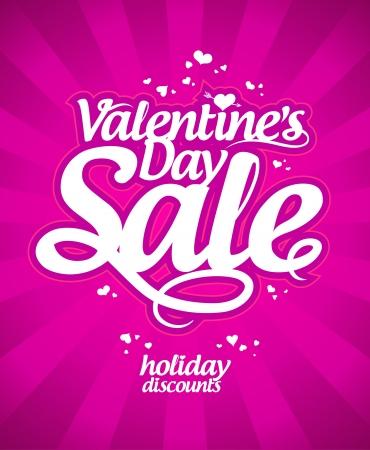 Valentine`s day sale banner. Stock Vector - 17305326