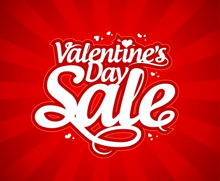 sales promotion: Valentine`s day sale design template.