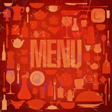 Retro restaurant menu card design template. Eps10. Stock Vector - 17305330