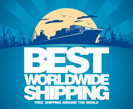 ship package: Best worldwide shipping design template.