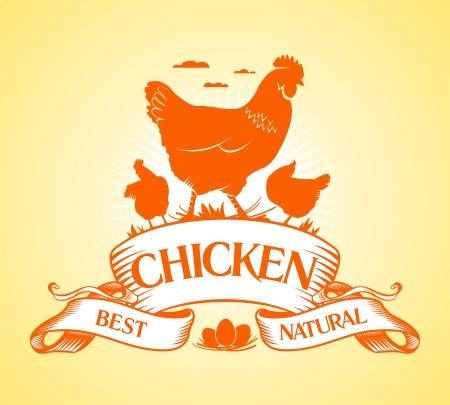 gallina con huevos: El mejor pollo plantilla de diseño.