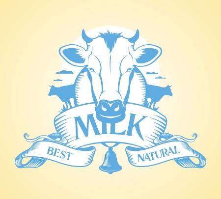 vaca: Best leche plantilla de dise�o Vectores