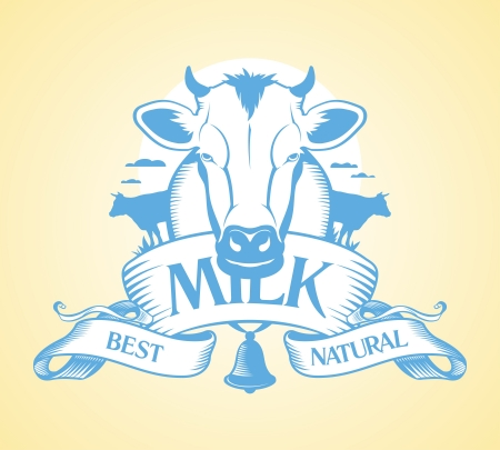 dairy cow: Best milk design template