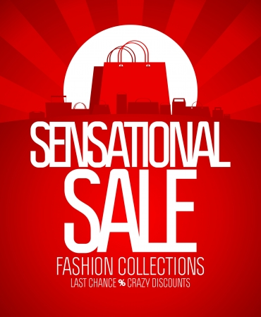 Sensational sale design template  Stock Vector - 17741469