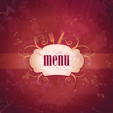 Retro restaurant menu card design template  Eps10  Vector