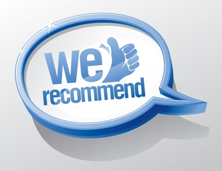recommend: We recommend shiny speech bubble  Illustration