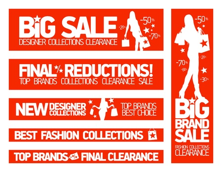Fashion banners set for sale and new clothing collections  Stock Vector - 17741571