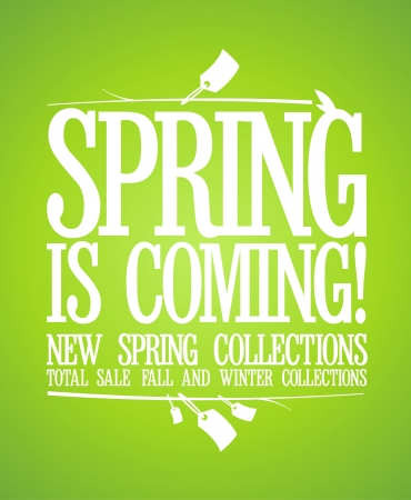 Spring is coming design template  Vector