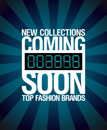 arriving: New collections, coming soon design template.