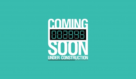 Under construction design template. Vector