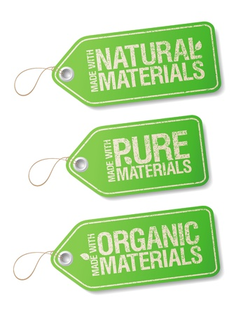 non: Made With Natural Pure Materials labels collection