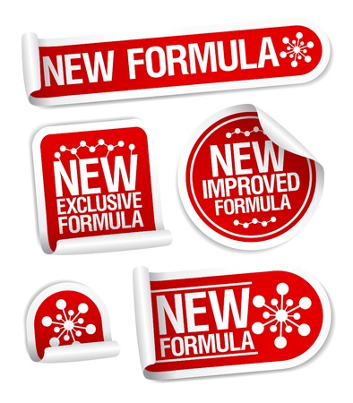 New Formula stickers set Stock Vector - 17932775