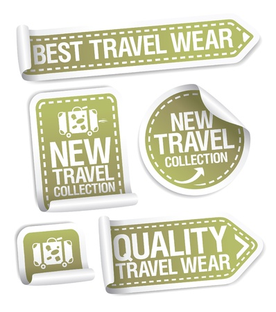 Best travel wear collection stickers set.  Stock Vector - 17932693