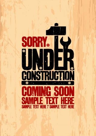 Under construction design template. Stock Vector - 17932773