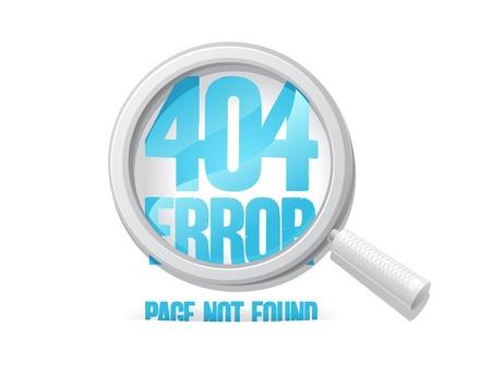 났습니다: 404 오류 페이지를 찾을 수 없습니다 디자인 템플릿 일러스트