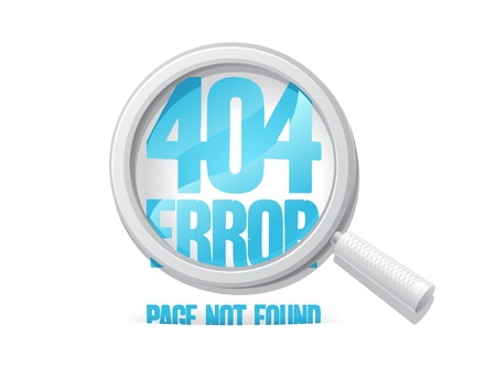 404 error, page not found  Design template  Vector