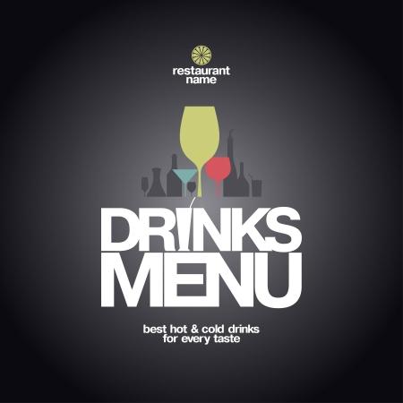 Drinks Menu Card Design template