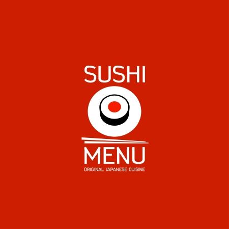 japanese food: Sushi menu card design template